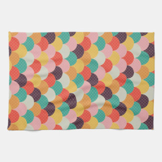 multicolored waves in the kitchen tea towel