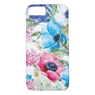 Multicolored Whimsical Anemone Flowers iPhone 8/7 Case