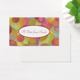 Multicolored, Whimsical Bubbles for Tiny Notes Business Card