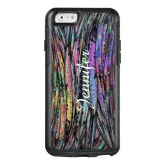 Multicolored, Wispy, Vertical Abstract Art Design OtterBox iPhone 6/6s Case
