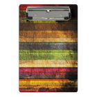 Multicolored Wood Pattern Mini Clipboard