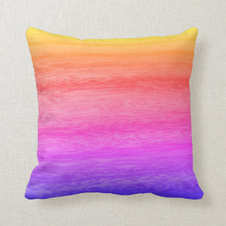 Multicolored Wood Texture Cushion
