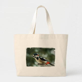Multicolored woodpecker - Photography Jean Louis Large Tote Bag