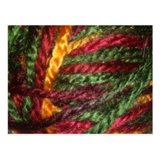 Multicolored Yarn Postcard