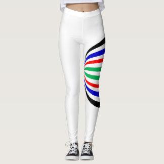 multicolour bold stripe leggings
