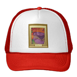 Multicoloured abstract trucker hat