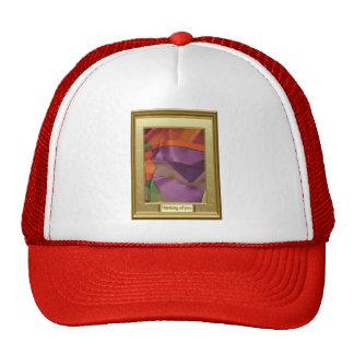 Multicoloured abstract trucker hat