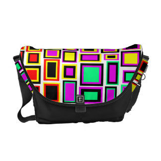 Multicoloured bag Messenger squares abstract Messenger Bags