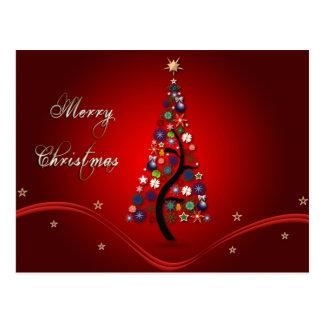 Multicoloured Christmas Tree Postcard