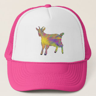 Multicoloured Funny Artsy Goat Animal Art Design Trucker Hat