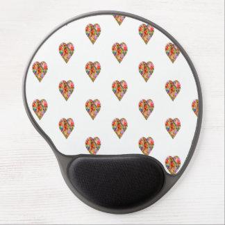Multicoloured heart gel mouse pad
