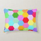 Multicoloured Hexagon Pattern Decorative Cushion