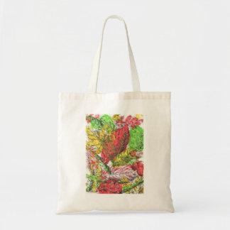 Multicoloured Leaf Print Tote Bag