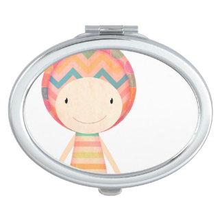 Multicoloured Muñequita Travel Mirror