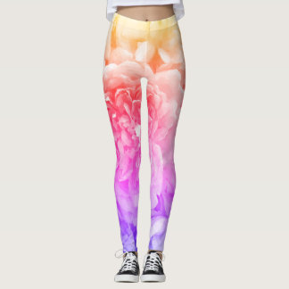 Multicoloured Rose Leggings