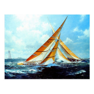 Multicoloured sails postcard