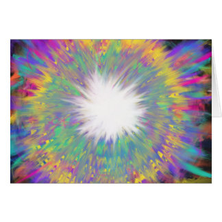 Multicoloured Star Abstract Art Painting Design Card