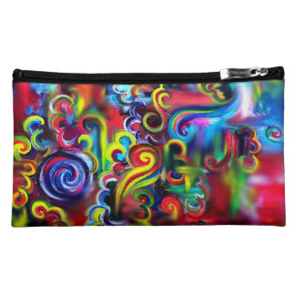 Multicoloured Swirls Cosmetic Bag