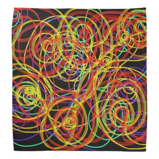 Multicoloured Swirls Indie Abstract Art Design Bandana
