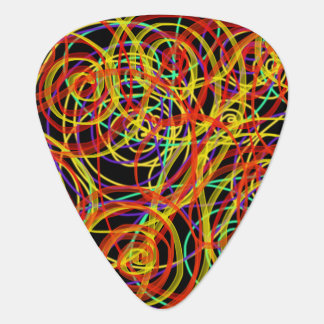 Multicoloured Swirls Indie Abstract Art Design Guitar Pick