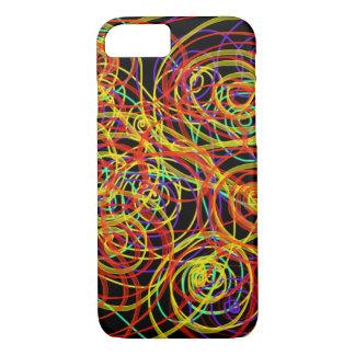Multicoloured Swirls Indie Abstract Art Design iPhone 8/7 Case