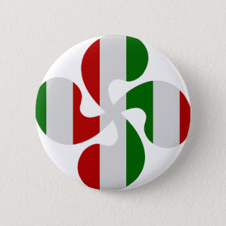 Multicouleurs crosses Basque 6 Cm Round Badge
