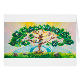 Multicultural Tree of Life - Summer | Blank Card