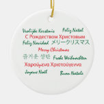 Multilanguage Merry Christmas Ornament