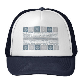 Multilingual Happy Holidays hat