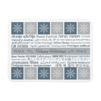 Multilingual Happy Holidays magnet
