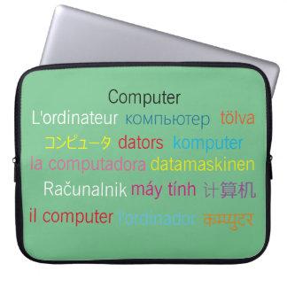 Multilingual Laptop sleeve 15 inch