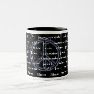 Multilingual Peace Two-Tone Coffee Mug