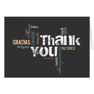 Multilingual Thank You Card