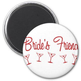 MultiMartini-BridesFriend-Red 6 Cm Round Magnet