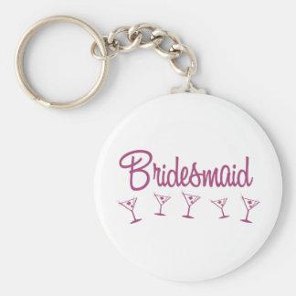 MultiMartini-Bridesmaid-Pink Key Chain