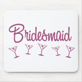 MultiMartini-Bridesmaid-Pink Mouse Pad