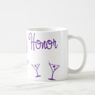MultiMartini-MaidHonor-Purp Basic White Mug