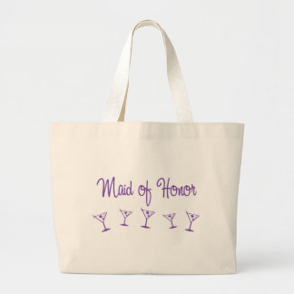 MultiMartini-MaidHonor-Purp Jumbo Tote Bag