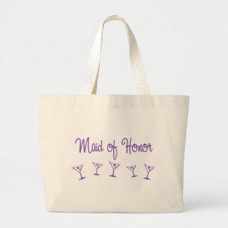 MultiMartini-MaidHonor-Purp Large Tote Bag