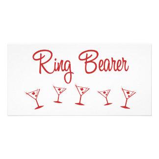 MultiMartini-RingBearer-Red Photo Cards