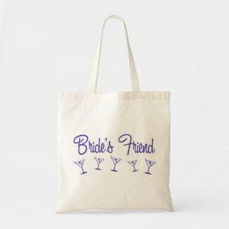 MultiMartiniBridesFriendIndigo Budget Tote Bag