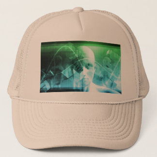 Multimedia Technology Digital Devices Information Trucker Hat