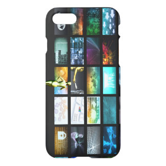 Multimedia Technology with Woman Staring at Screen iPhone 7 Case