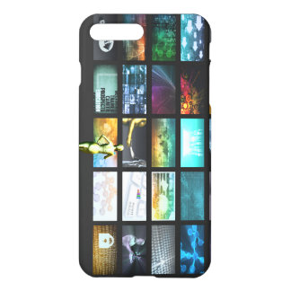 Multimedia Technology with Woman Staring at Screen iPhone 7 Plus Case