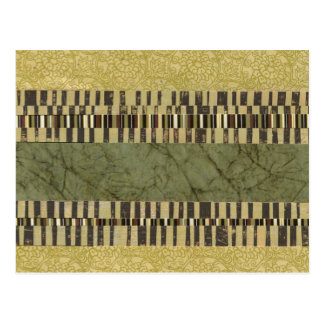 Multipatterned Panel Painting Postcard