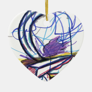 Multiperspective Scenes Of An Imagination Ceramic Heart Decoration