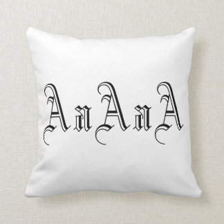 Multiple A Monogram in Black and White I Throw Cushions