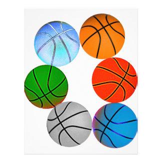 Multiple Basketballs 21.5 Cm X 28 Cm Flyer
