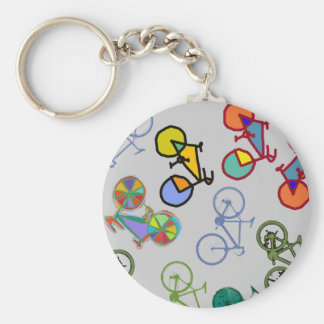 multiple bicycles key ring