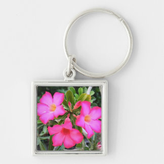 (multiple blank products selected) Silver-Colored square key ring